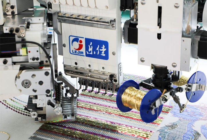 LJ-618+18 Multi-function embroidery machine coiling/taping embroidery machine embroidery machine with sequin device