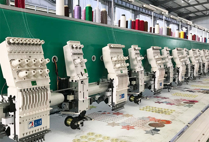 LJ-915+15 Coiling/Taping embroidery machine embroidery machine for Algeria 15 heads embroidery machine